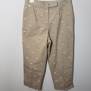 Lizgolf pineapple print golf capri pants size 6